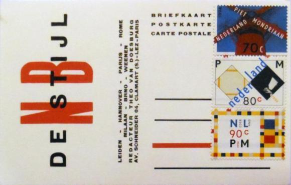 Rechtlijnig, improved postcard