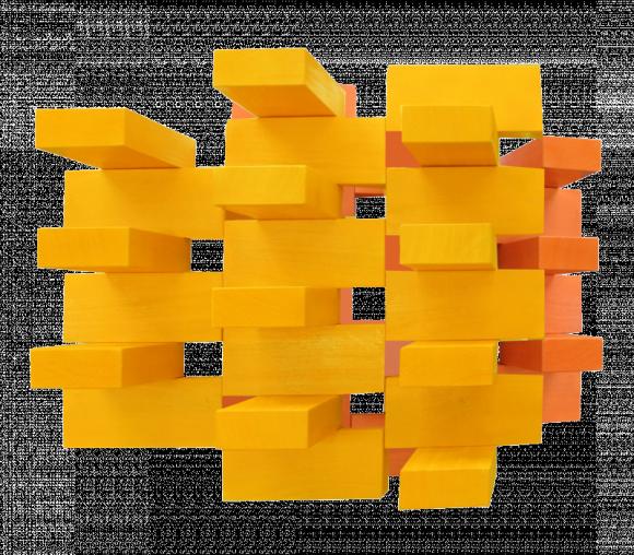 sunny bricks, shaped photograph